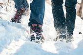 겨울, 산 (지세), 하이킹 (아웃도어), 산악등반 (클라이밍), 등산로 (길), 등산화 (부츠), 아이젠 (등산장비), 아웃도어, 하이킹, 산악등반, 아이젠, 등산장비, 등산지팡이