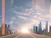 도시, 백그라운드, 희망 (컨셉), 햇빛, 비즈니스