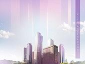 도시, 백그라운드, 희망 (컨셉), 비즈니스
