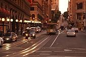 사람없음,가로등,건축물,교통,노을,도로,도시,모션,미국,북미,샌프란시스코,서양,실외,여행,자동차,캘리포니아주,풍경,풍경[경치],해외,현대건축