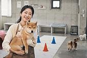 강아지, 강아지유치원, 여성