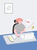 자기개선 (향상), 자기개선, 공부, 인터넷강의 (인터넷), 집콕 (컨셉), 유색배경, 재테크 (금융)