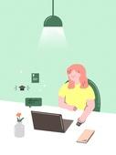 자기개선 (향상), 자기개선, 공부, 인터넷강의 (인터넷), 집콕 (컨셉), 유색배경