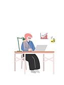 자기개선 (향상), 자기개선, 공부, 인터넷강의 (인터넷), 집콕 (컨셉), 책상, 노트북컴퓨터 (개인용컴퓨터)