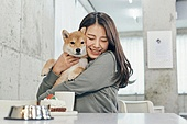 여성, 강아지, 반려동물, 카페, 애견카페, 펫테크 (사회이슈)