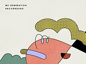 백그라운드, MZ Generation, 패턴, 기하학 (수학), 다양 (컨셉), 라인아트 (일러스트기법), 컬러풀, 도형, 레이어드, 트렌드