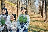 한국인, 묘목, 식목일, 환경보호, 식목 (환경보호), 여성, 어린이 (나이)