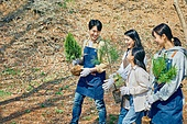 한국인, 묘목, 식목일, 환경보호, 식목 (환경보호), 여성, 남성, 어린이 (나이)