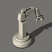 3D, 목업 (이미지), 그래픽이미지 (Computer Graphics), 로봇팔 (로봇), 기계 (장비), 생산장비 (산업장비), 기계부속품, 인공지능