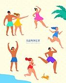 일러스트,아이콘,여름,오브젝트