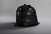 쓰레기 (물체묘사), 폐기 (나쁜상태), 비닐봉투 (가방), 재활용 (환경보호), 검정색 (색), 쓰레기봉투, 묶임 (물체묘사)
