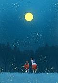 풍경 (컨셉), 하늘, 봄, 사람, 백그라운드, 밤 (시간대), 달 (하늘), 뒷모습, 캠핑, 반딧불이 (딱정벌레), 커플, 별 (우주)
