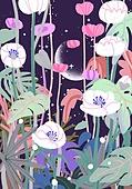 붓터치, 유화 (회화기법), 풍경 (컨셉), 환상 (컨셉), 동화, 꽃, 봄, 백그라운드