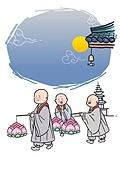 불교, 부처님오신날, 부처님오신날 (홀리데이), 종교, 연꽃, 연등, 동자승 (승려)