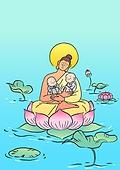 불교, 부처님오신날, 부처님오신날 (홀리데이), 종교, 부처 (불교), 연꽃, 동자승 (승려), 연잎