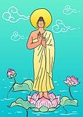 불교, 부처님오신날, 부처님오신날 (홀리데이), 종교, 부처 (불교), 연꽃, 연잎