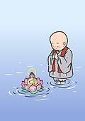 불교, 부처님오신날, 부처님오신날 (홀리데이), 종교, 부처 (불교), 연꽃, 동자승 (승려)