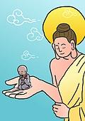 불교, 부처님오신날, 부처님오신날 (홀리데이), 종교, 부처 (불교), 동자승 (승려), 동자승