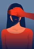 폭력, 학대, 사람, 가정폭력, 데이트폭력, 스트레스, 손으로눈가리기 (가리기), 가스라이팅