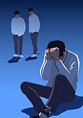 사람, 폭력, 학교폭력, 학생, 교복, 스트레스 (컨셉), 왕따 (괴롭힘)