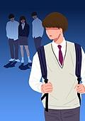 사람, 폭력, 학교폭력, 학생, 교복, 왕따 (괴롭힘)