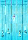 사람, 정신건강 (주제), 건강한생활 (주제), 수영장, 수영 (수상스포츠), 탑앵글 (카메라앵글)