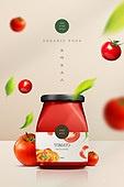 유기농, 친환경소재 (재료), 건강한생활 (주제), 음식 (Food And Drink), 토마토, 토마토소스