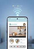 반려동물, 인공지능, 펫케어, 실내, 스마트폰, 리얼타임 (Film Speed), 영상, 감시 (컨셉)