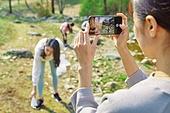 환경운동가, 쓰레기 (물체묘사), 플로깅, 제로웨이스트, 스마트폰, 촬영