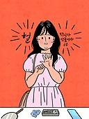 다이어트, 비만 (건장한체격), 청년 (성인), 여성 (성별), 황당 (컨셉), 스트레스, 반지, 액세서리 (인조물건), 부종, 비만