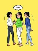다이어트, 비만 (건장한체격), 청년 (성인), 여성 (성별), 황당 (컨셉), 스트레스, 말풍선, 뒷모습, 비만, 화이트칼라 (전문직)