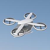 3D, 비행기, 에어리프트 (교통), 드론, 운송수단 (인조물건), 이동 (컨셉), 미래 (컨셉)
