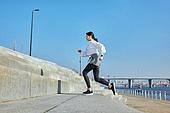 건강관리 (주제), 워밍업, 체력, 여성, 계단, 달리기 (물리적활동)