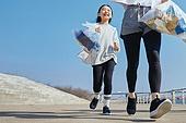 쓰레기봉투, 제로웨이스트, 지역봉사활동 (사회복지), 플로깅, 환경, 환경보호, 건강한생활 (주제), 캠페인, 달리기 (물리적활동), 어린이 (나이)