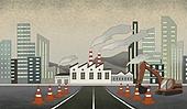 대기오염 (공해), 대기오염, 환경, 환경보호, 공장, 공장굴뚝