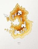 종이 (재료), 페이퍼아트, 지도, 한국지도 (지도), 경기도 (대한민국), 비행기
