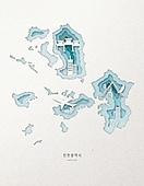 종이 (재료), 페이퍼아트, 지도, 한국지도 (지도), 인천, 인천 (대한민국)