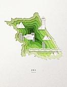 종이 (재료), 페이퍼아트, 지도, 한국지도 (지도), 강원도 (대한민국), 기차 (육상교통수단)