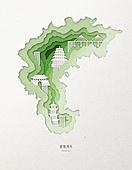 종이 (재료), 페이퍼아트, 지도, 한국지도 (지도), 충청북도