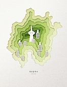 종이 (재료), 페이퍼아트, 지도, 한국지도 (지도), 대전 (대한민국)