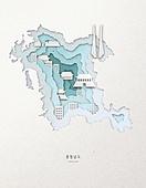 종이 (재료), 페이퍼아트, 지도, 한국지도 (지도), 충청남도, 충청남도 (대한민국)
