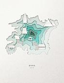 종이 (재료), 페이퍼아트, 지도, 한국지도 (지도), 전라북도 (대한민국)