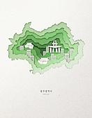 종이 (재료), 페이퍼아트, 지도, 한국지도 (지도), 광주시 (경기도)