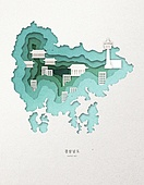 종이 (재료), 페이퍼아트, 지도, 한국지도 (지도), 경상남도 (대한민국), 고대유적 (건설물)