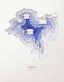 종이 (재료), 페이퍼아트, 지도, 한국지도 (지도), 울산, 울산 (대한민국)