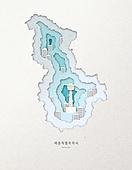 종이 (재료), 페이퍼아트, 지도, 한국지도 (지도), 세종시, 세종시 (대한민국)