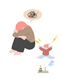 사람, 육아, 스트레스, 라이프스타일, 아기 (나이), 부모, 엄마, 우울 (슬픔)
