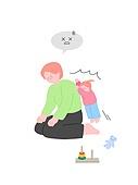 사람, 육아, 스트레스, 라이프스타일, 아기 (나이), 부모, 아빠