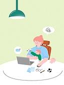 사람, 육아, 스트레스, 라이프스타일, 아기 (나이), 부모, 엄마, 재택근무 (원격근무)