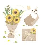 꽃, 선물 (인조물건), 배달 (일), 꽃다발, 가위, 연례행사 (사건), 봄